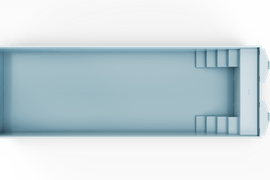 Nova 120 Hoekkap Trap Lr Top Light Blue