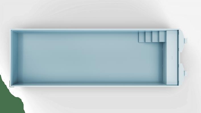 Nova 120 Hoekkap Trap L Top Light Blue