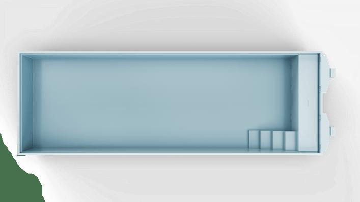 Nova 120 Hoekkap Trap R Top Light Blue